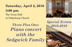 April 2 Sedgwick Concert